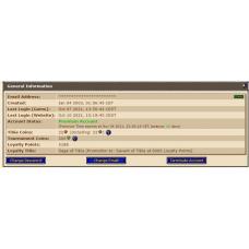 Conta com Skill Bonus 50% (5188 Loyalty Points) + CARTA RK & END FICTICIO